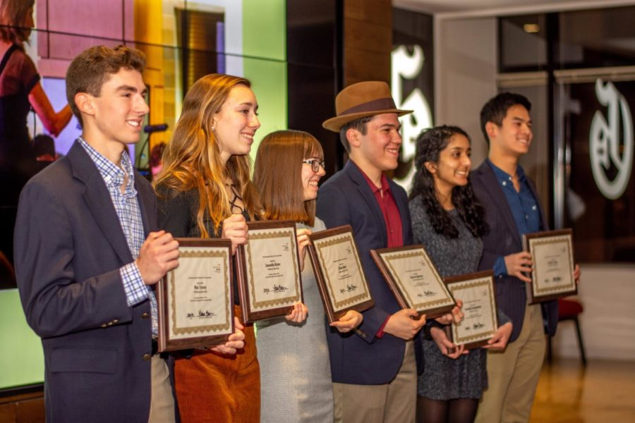 Max Tracey of Wellesley; Samantha Kizner of Wellesley; Lillian Hacsi of Newton North; Nicolas Quintana of Newton North; Varshini Ramanathan of Westford Academy; and Nathan Zhao of Wayland.